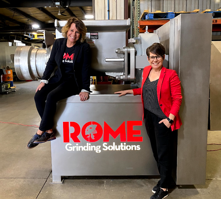 Kate Rome and Kelley Newgard represent the women in leadership at Rome Grinding Solutions