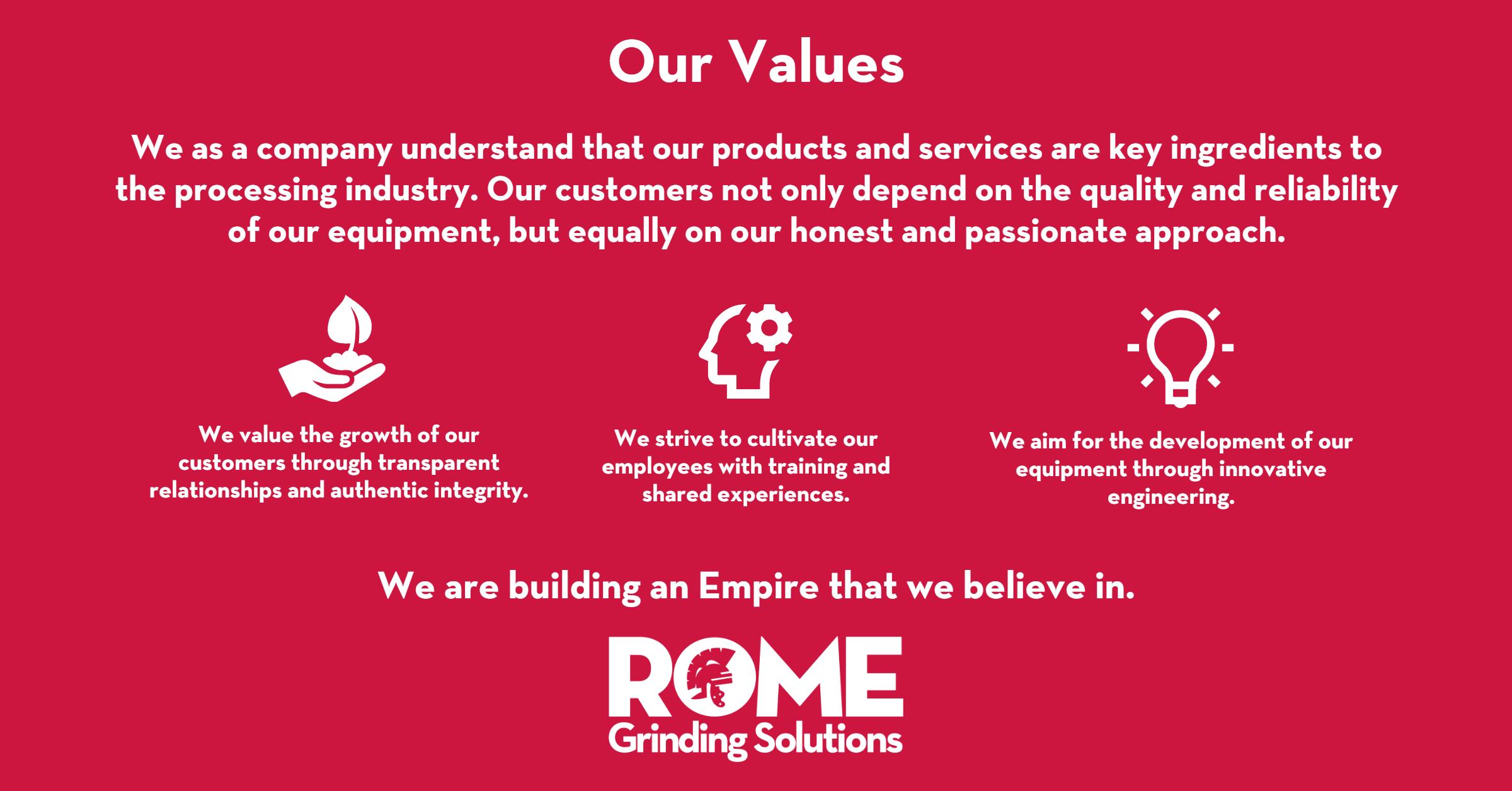 Rome's Company Values